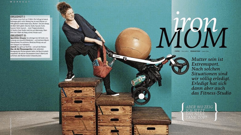 """Heftseiten """"Iron Mom"""" aus BRIGITTE MOM, 14.09.2011"""