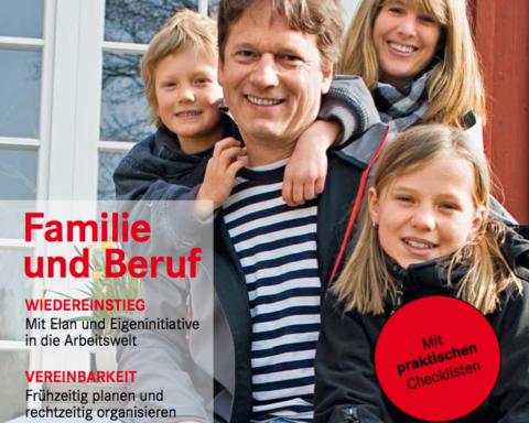 """Titel des Themenheftes """"durchstarten"""" - Familie und Beruf"""