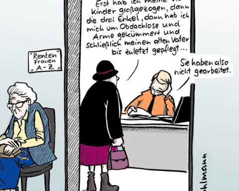 "Cartoon von Christiane ""Chriss"" Pfahlmann www.pfohlmann.de"