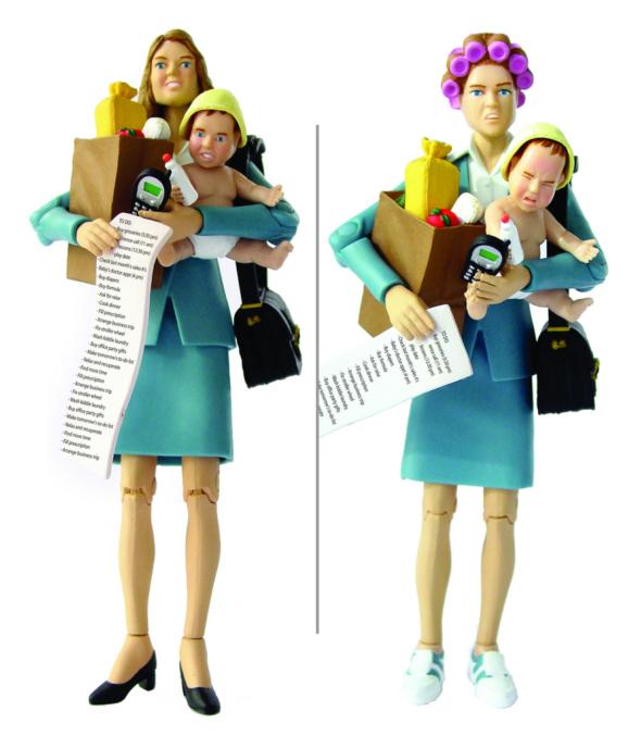 Die berufstätige Mutter als Supermutter: Die SuperMom Actionfigur (© Happy Yorker, www.happyworker.com)