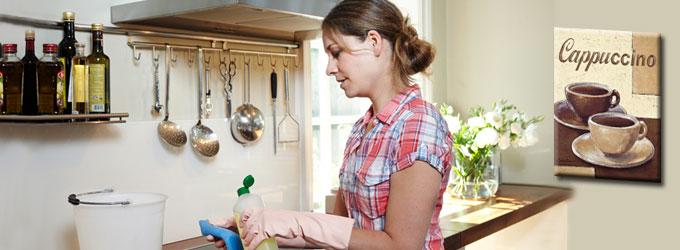 Frau Schröder, die Minijobs und der Klebeeffekt: Putzende Frau mit Minijob (Foto: Minijob-Zentrale.de)