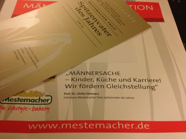 Mestemacher Preis Spitzenvater des Jahres 2013: Die Einladung zur Preisverleihung