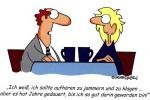 Frauen jammern angeblich zu viel über den Karriereknick nach der Babypause (Cartoon von Randy Glasbergen)